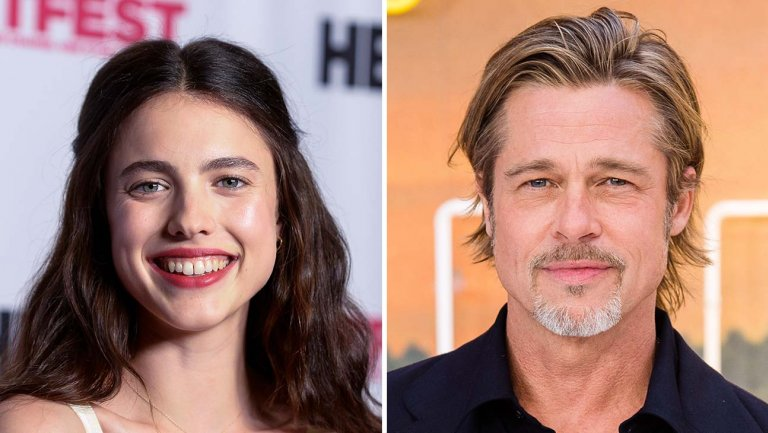 Margaret Qualley and Brad Pitt
