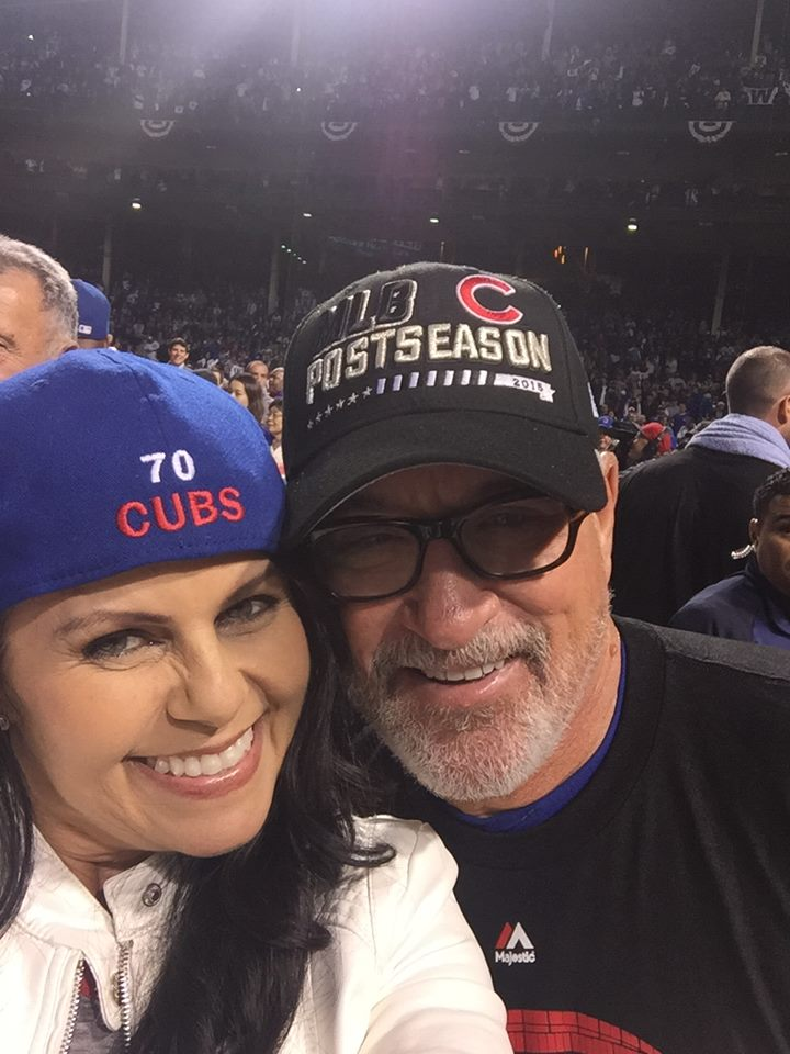 Joe Maddon and his wife